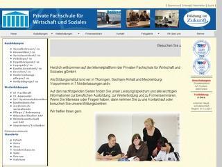 Private Fachschule für Wirtschaft und Soziales in Sondershausen Staatl. anerkannte berufsbildende Ersatzschule