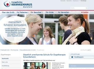 Ev. Krankenhaus Bielefeld gGmbH, Gesundheitsschulen im EvKB Schule für Ergotherapie I Eckardtsheim