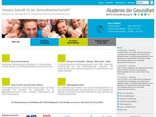 Akademie der Gesundheit Berlin/Brandenburg e.V. Fachbereich Ergotherapie