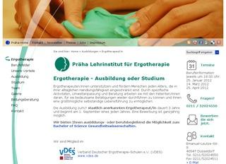 Lehrinstitut f&uuml;r Ergotherapie Staatl. anerk.Berufsfachschule
