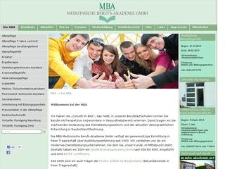 Staatl. anerk.Berufsfachschule für Ergotherapie MBA – Medizinische Berufs-Akademie GmbH