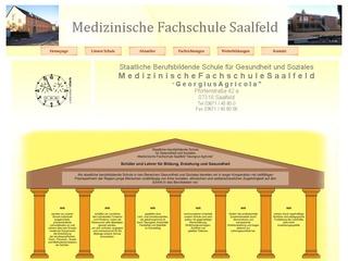 """Staatl. berufsbildende Schule für Gesundheit und Soziales Med. Fachschule -""""Georgius Agricola"""" Saalfeld"""