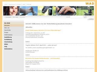Berufsfachschule für Ergotherapie Weiterbildungsakademie gGmbH Dresden Staatl. anerkannte Ersatzschule